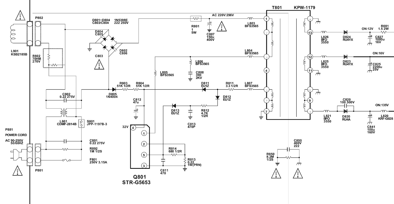 str g5653 smps power supply circuit schematic diagram. Black Bedroom Furniture Sets. Home Design Ideas