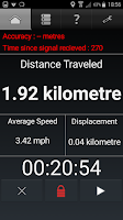 Odometer showing 1.92 km in 20.54 minutes.