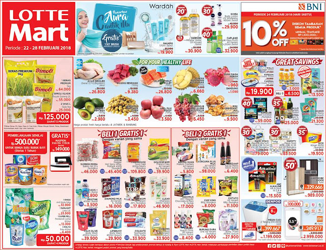 Katalog Promo LOTTEMART Hypermarket Akhir Pekan Periode 22 - 28 Februari 2018
