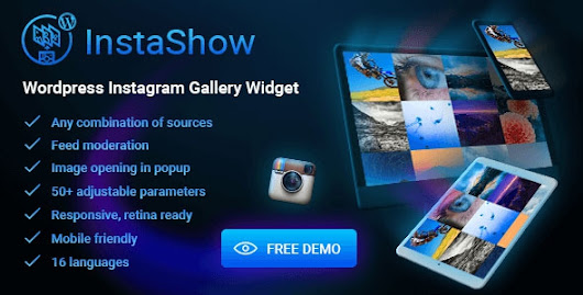 InstaShow v1.4.1 WordPress Instagram Gallery Widget