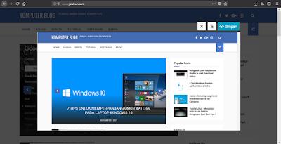 Tips Membuat Screenshot, Penangkapan layar