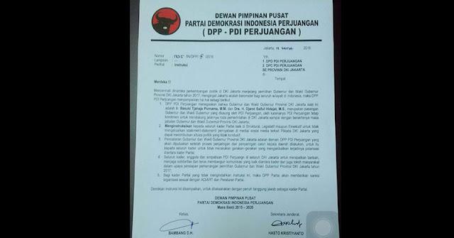 Surat dari Megawati untuk Ahok ini bikin Pendemo Gigit Jari