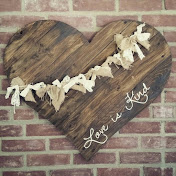 LOVE IS KIND WOOD HEART