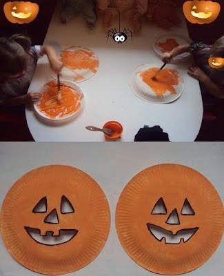 Paper plate Jack-O-Lantern