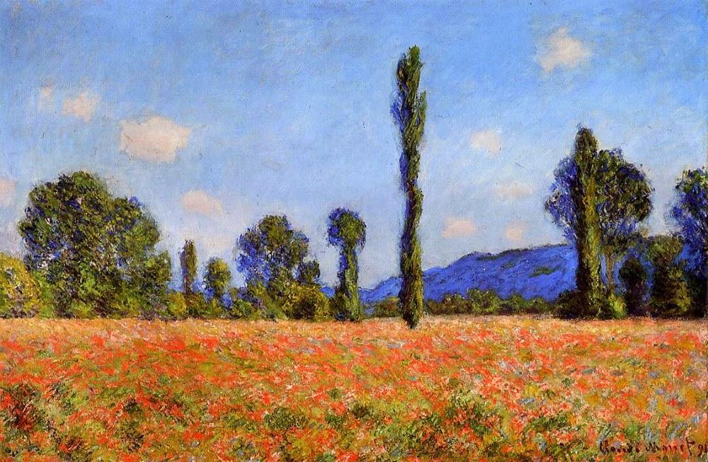Campo de Papoula - Pinturas de Monet Claude | O Pai do Impressionismo