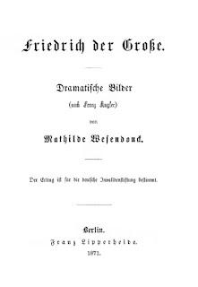 Titel - Mathilde Wesendonck: Friedrich der Große. 1871
