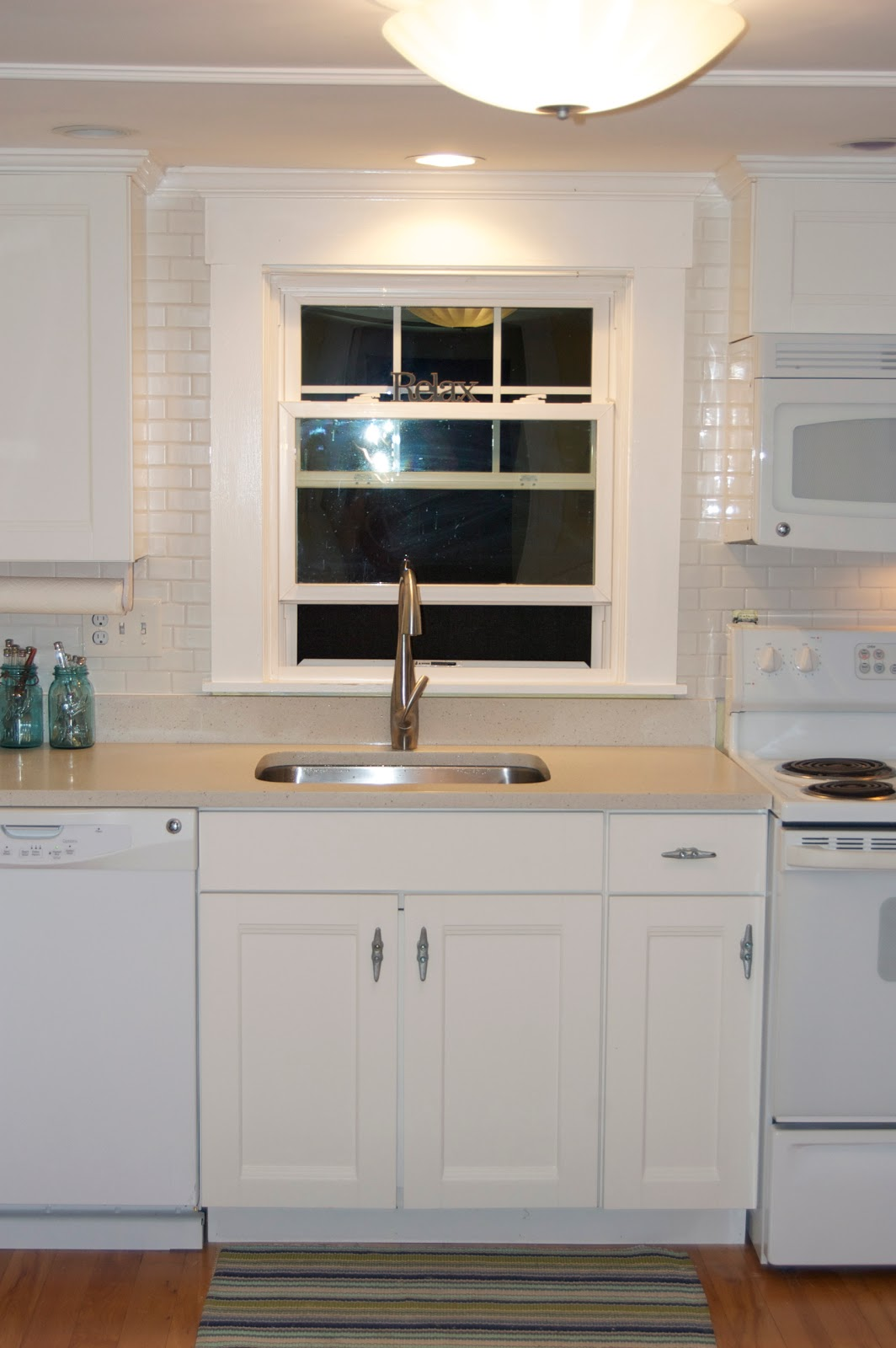 Seaside Shelter Subway Tile Backsplash
