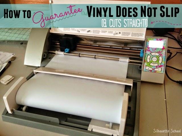 Silhouette Cameo, vinyl, slipping, roller feeder