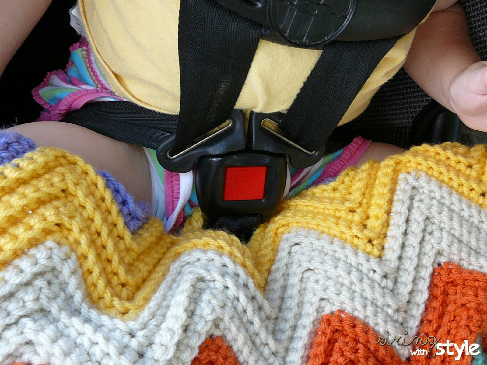 Chevron Love Car Seat Blanket