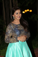 Nikki Galrani in Green Skirt  Top at Marakathamani music launch ~  Exclusive (63).JPG