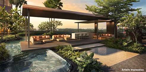 The Andrew Residences - Pool Deck
