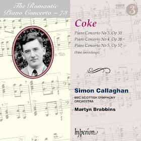 Roger Sacheverell Coke: Piano Concertos - Simon Callaghan - Hyperion