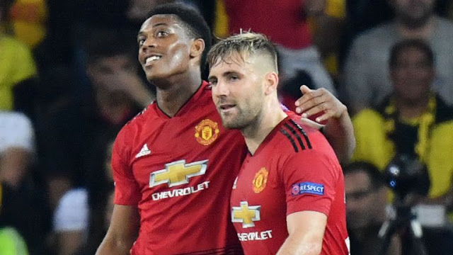 Martial Scores for Manchester United Vs young boys
