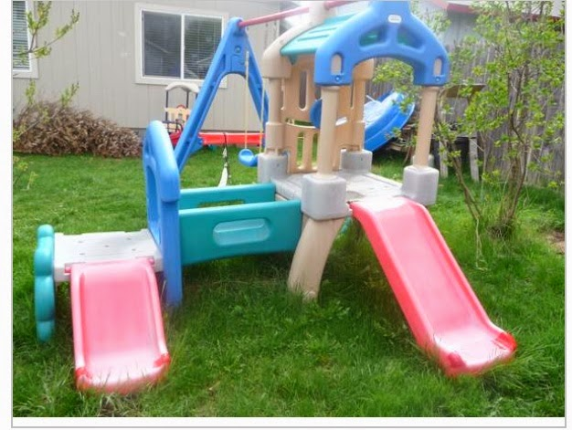 The Spectacular Attempt Up Cyling Little Tikes Swingset And Slide