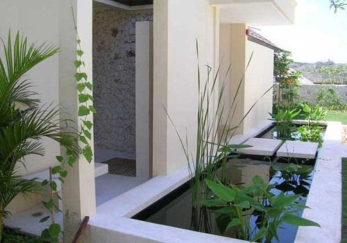 Minimalist Fish Pond Inside The House