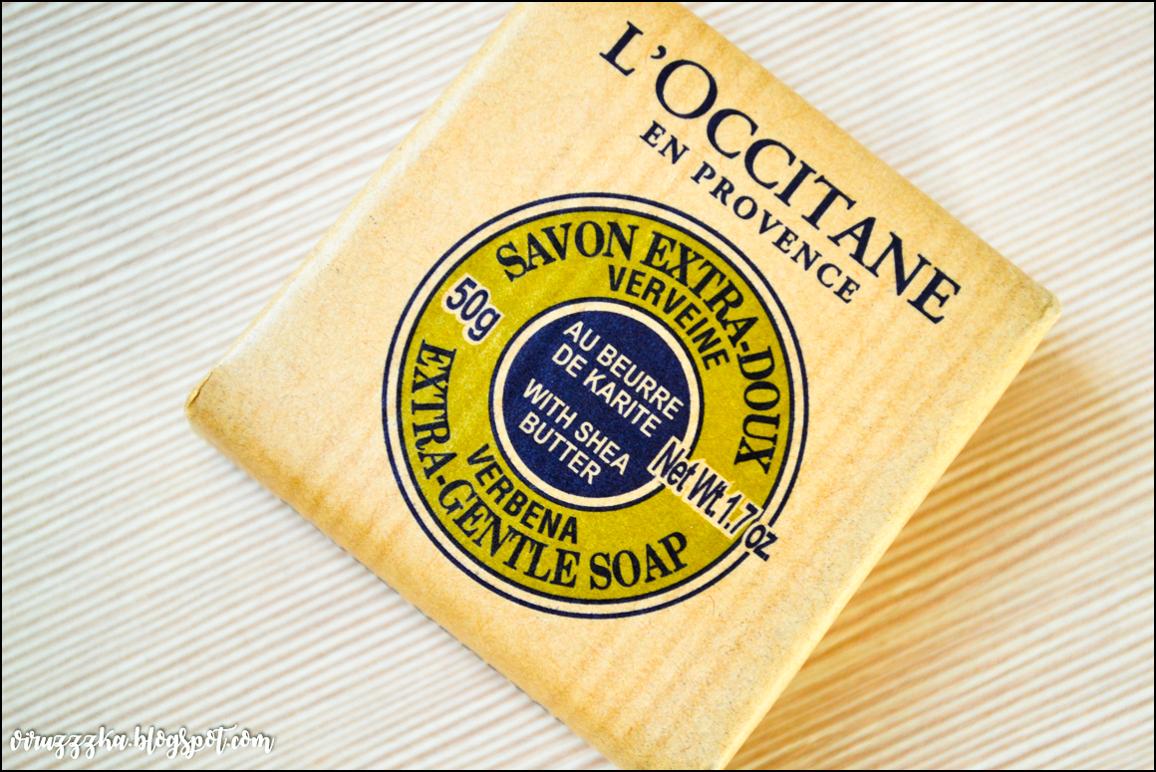 Твердое мыло L'Occitane Shea Butter Extra Gentle Soap Verbena Review Отзыв