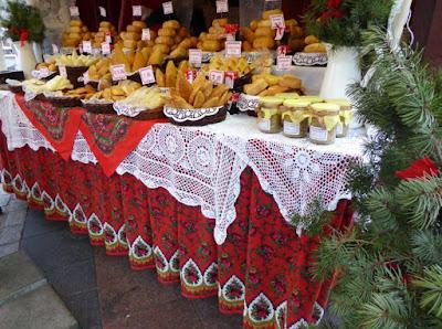 Mercatini di Natale di Cracovia: banco dei formaggi
