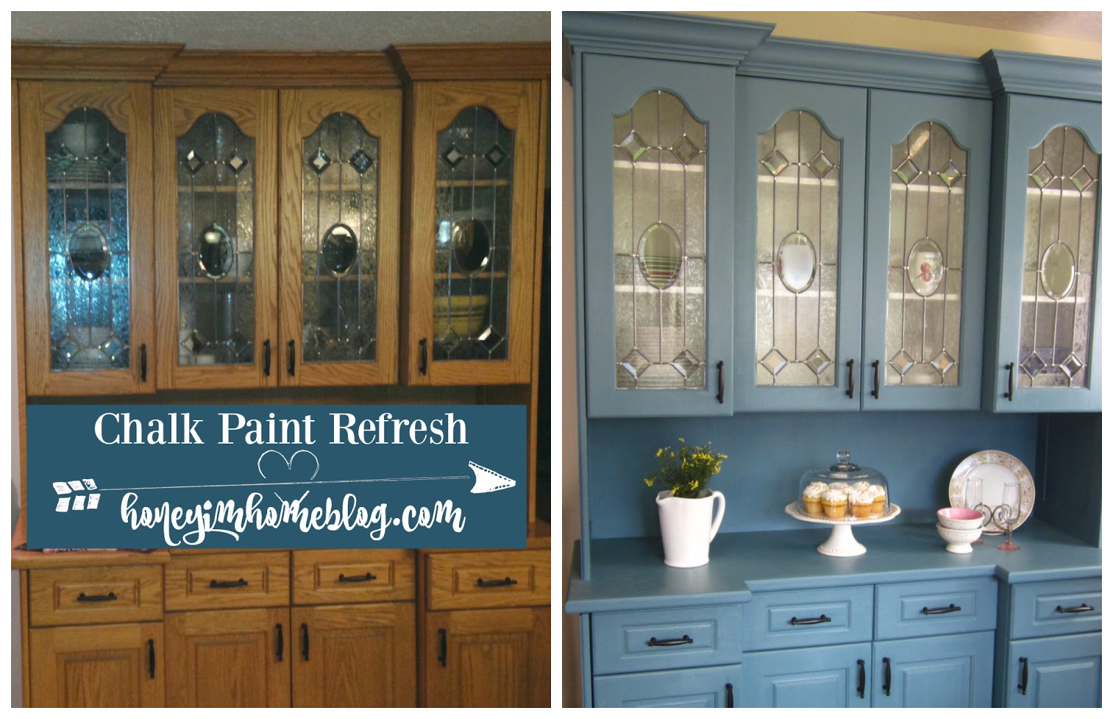 Annie Sloan Duck Egg Cabinets