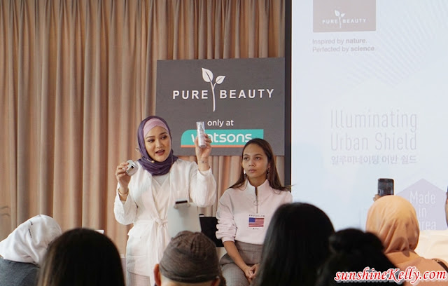 PURE BEAUTY Illuminating Urban Shield, korean skincare, korea skincare, beauty review, beauty blogger, Radiance Capsule Essence, Radiance Serum, Radiance Cream, Water Gel, Sun Protector SPF50+ PA++++, beauty product, skincare