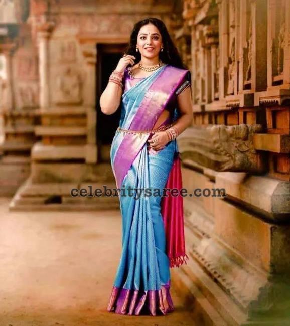 Nitya Menon Kanjeevaram Saree