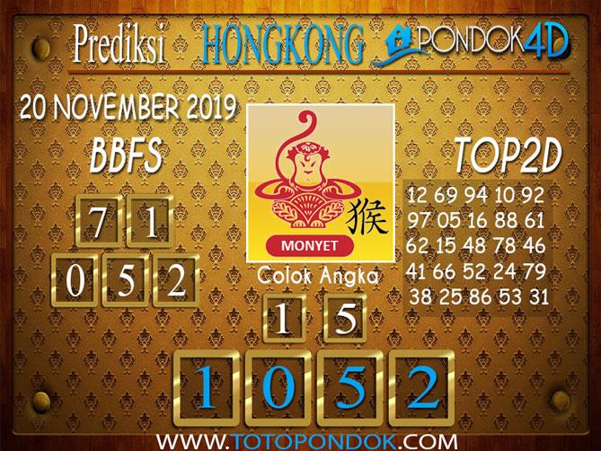 Prediksi Togel HONGKONG PONDOK4D 20 NOVEMBER 2019