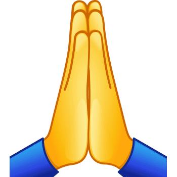 praying hands symbols emoticons