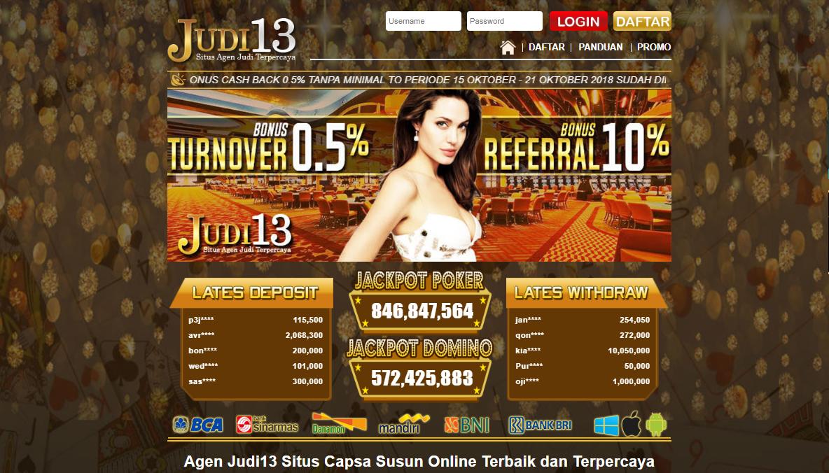 JUDI13 Situs Capsa Susun Terpercaya Di Indonesia