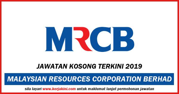 Iklan Jawatan Kosong MRCB 2019