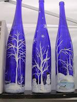 riciclo bottiglie di vetro per natale