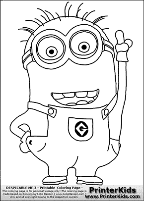 Page 2 successsprinters mucho minions for Despicable me coloring pages printable