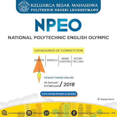 SELEKSI NPEO 2018 - POLITEKNIK NEGERI LHOKSEUMAWE