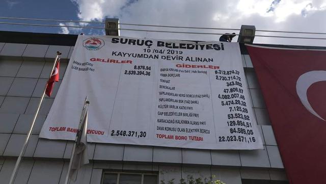 Suruç Belediyesi Kayyum'un borcunu açıkladı