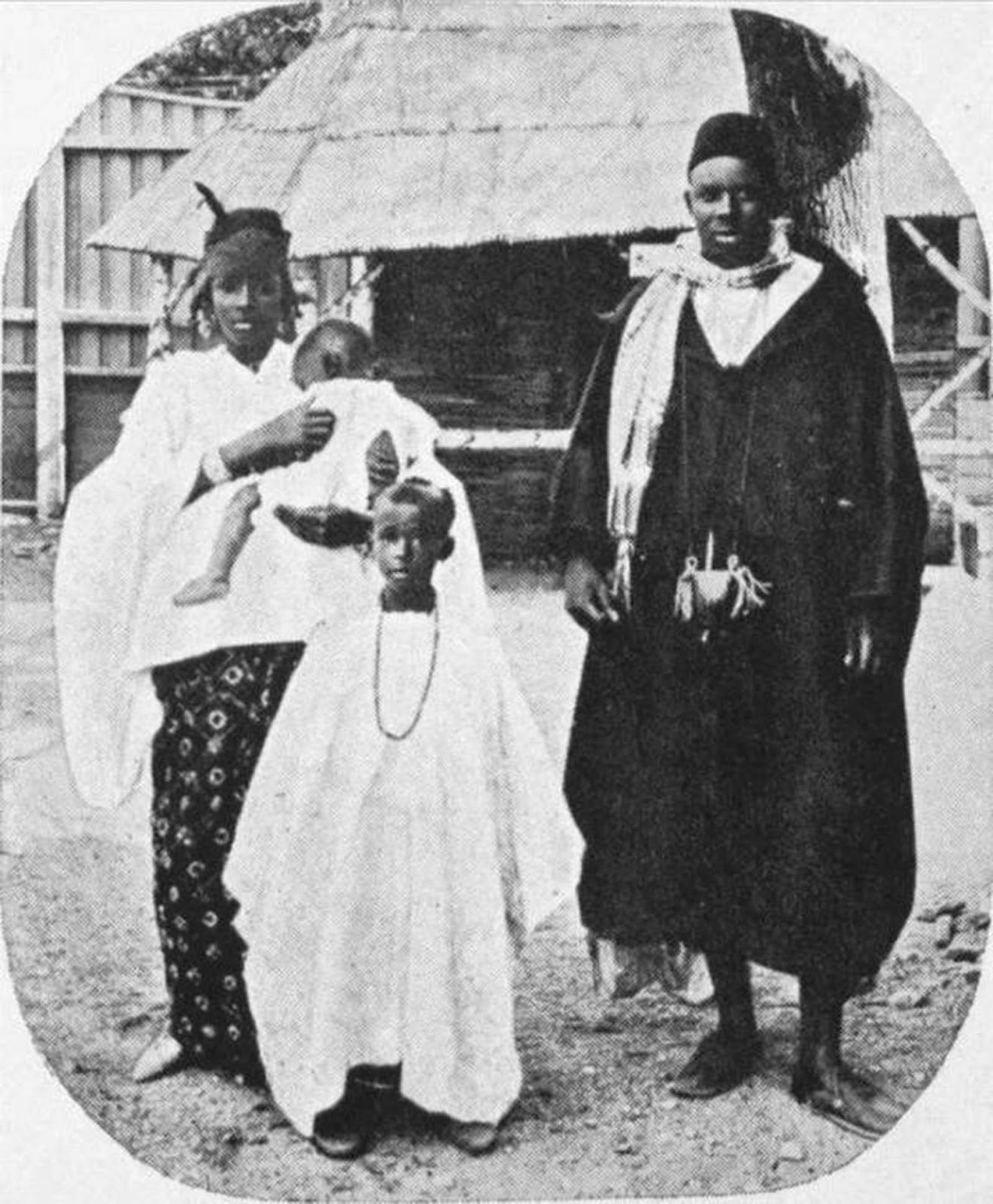 African exhibition subjects pose in Oslo, Norway, 1914.