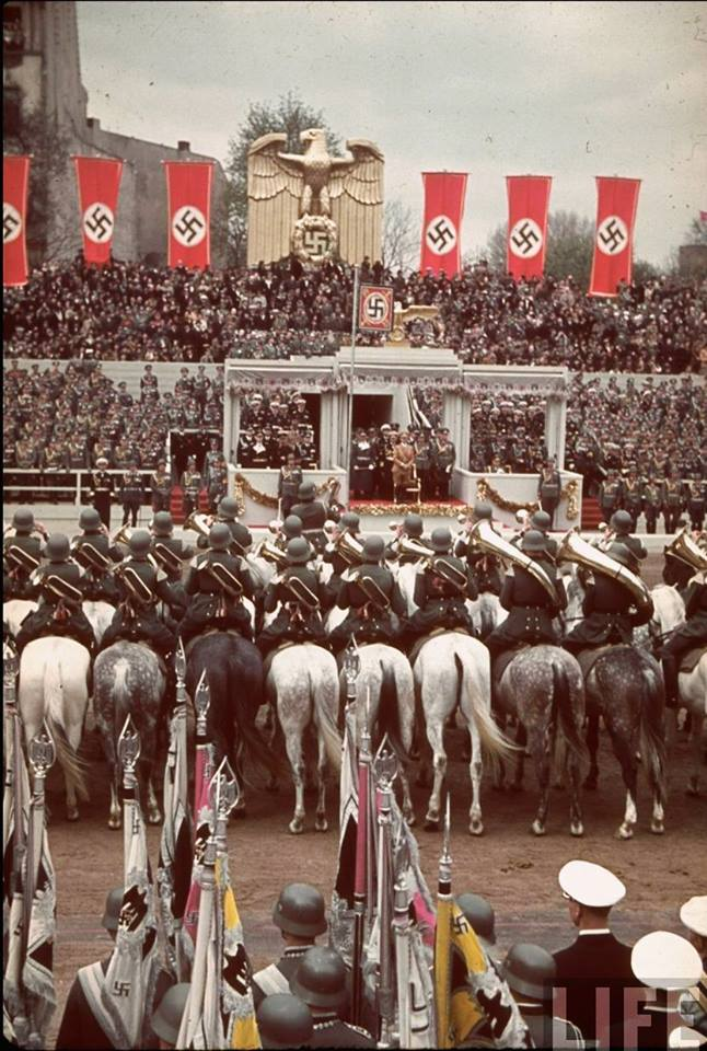 Berlin, 20 April 1939. Hitler's birthday color photos of World War II worldwartwo.filminspector.com