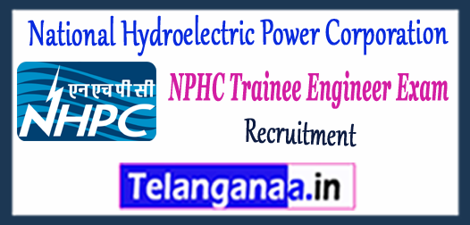 NPHC National Hydroelectric Power Corporation Trainee Engineer Recruitment 2018 Application