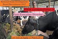 National Dairy Development Board Recruitment 2017– Executive Director