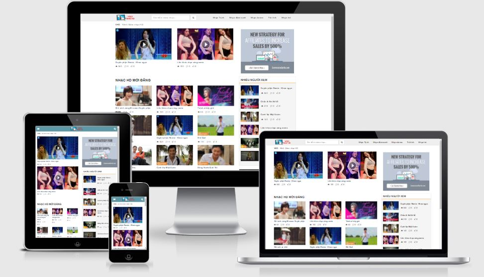 Video Funny HD Responsive Blogger Template