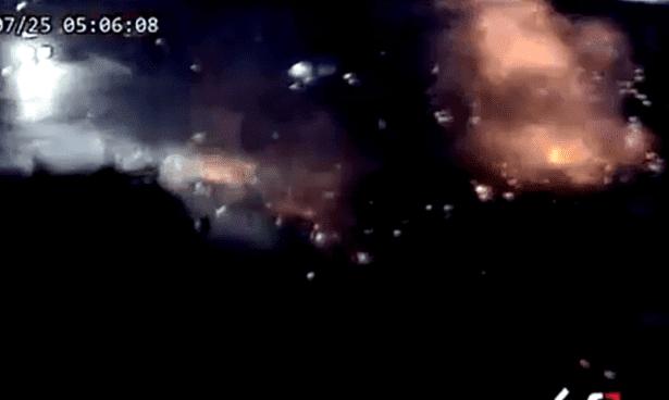 بالفيديو اللحظات الأولى للتفجير الإرهابي الانتحاري الذي ضرب مدينة السويداء
