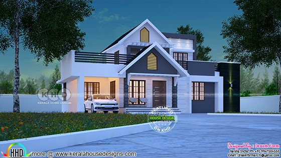 1722 square feet awesome Kerala one floor home