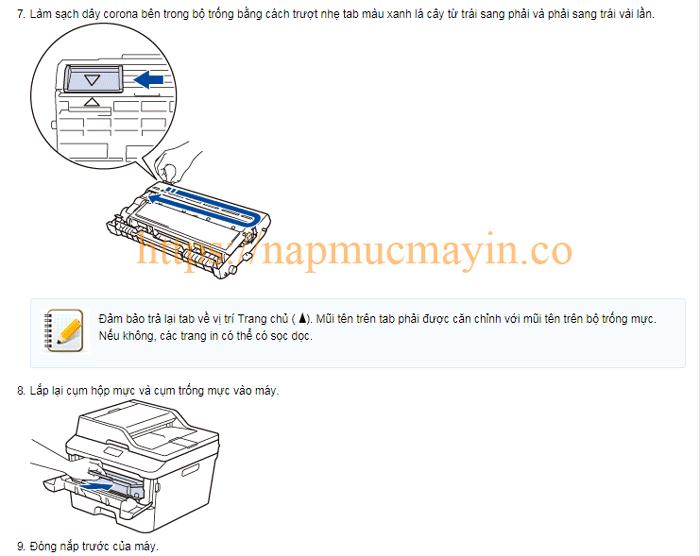 Sửa lỗi Replace Drum ở máy in Brother MFC L2701D đơn giản