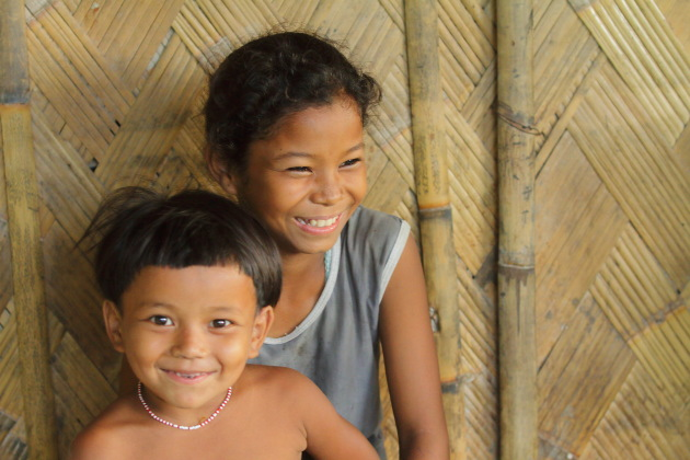 Smiling kids of Panbari Mishing Tribal Village, Assam, India