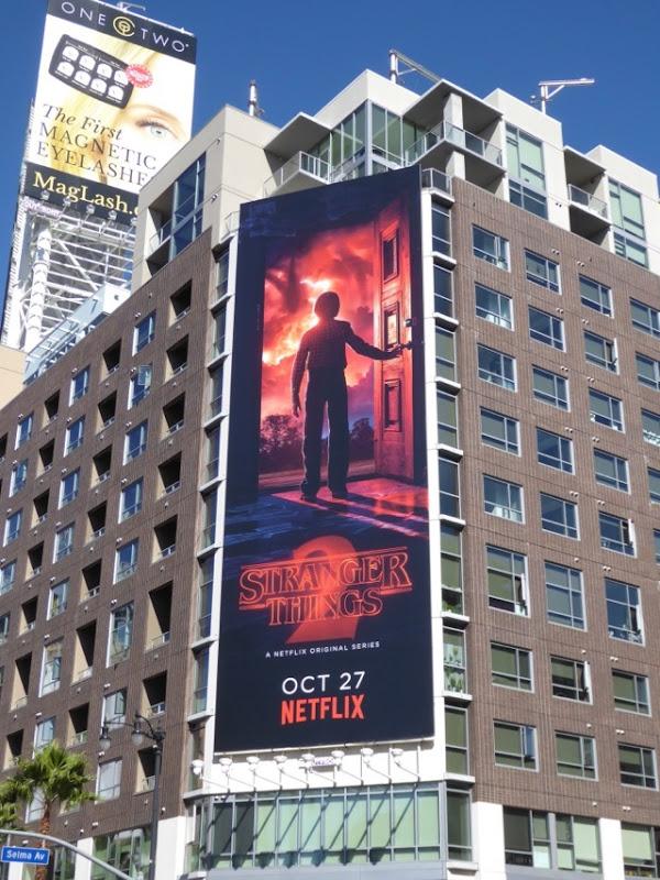 Stranger Things 2 doorway billboard