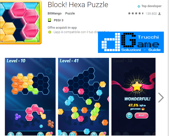 Trucchi Block! Hexa Puzzle Mod Apk Android v1.2.6