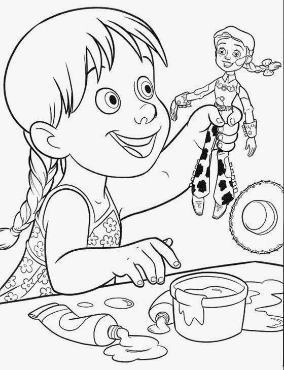jessie toy story coloring pages - dibujos para colorear maestra de infantil y primaria