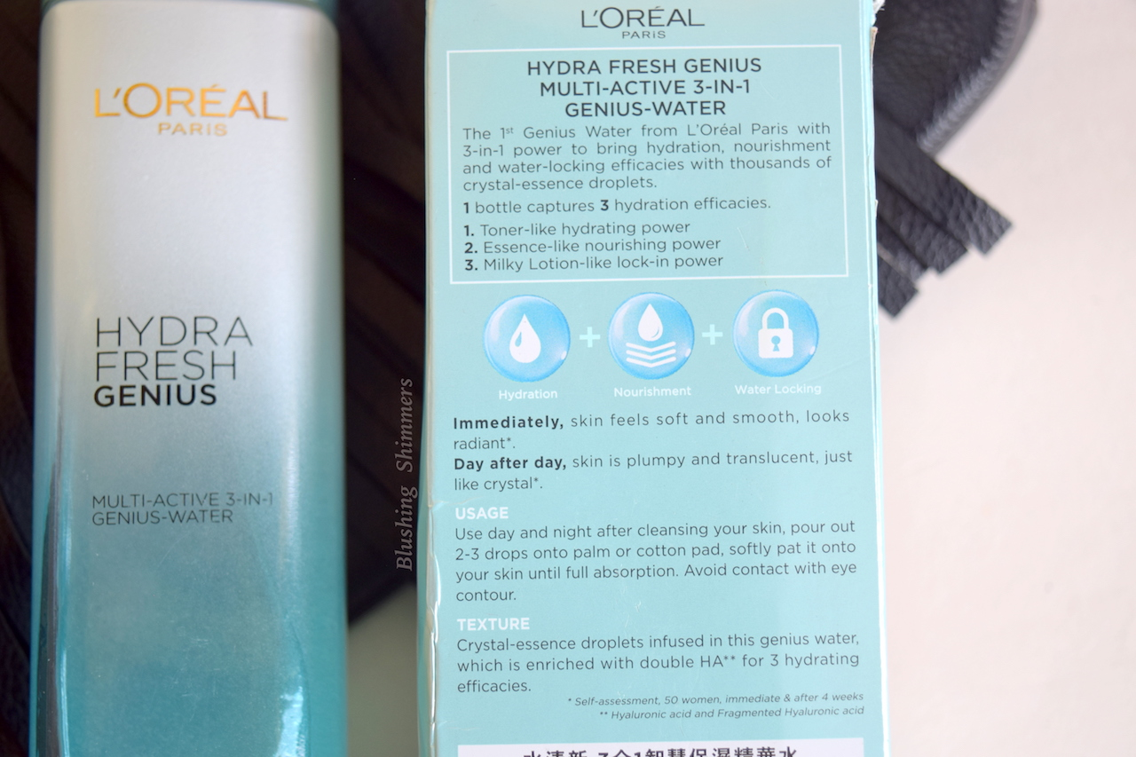 Loreal Hydra Fresh Genius Multi-Active 3 in 1 Genius Water