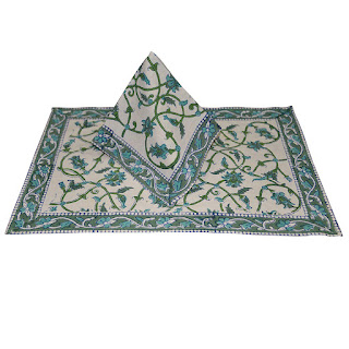 Placemat Block Printed Colourful Cotton Dining Table Mat Napkin Set of 6