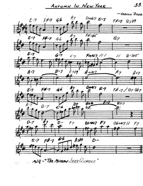 Partitura Saxofón Vernon Duke