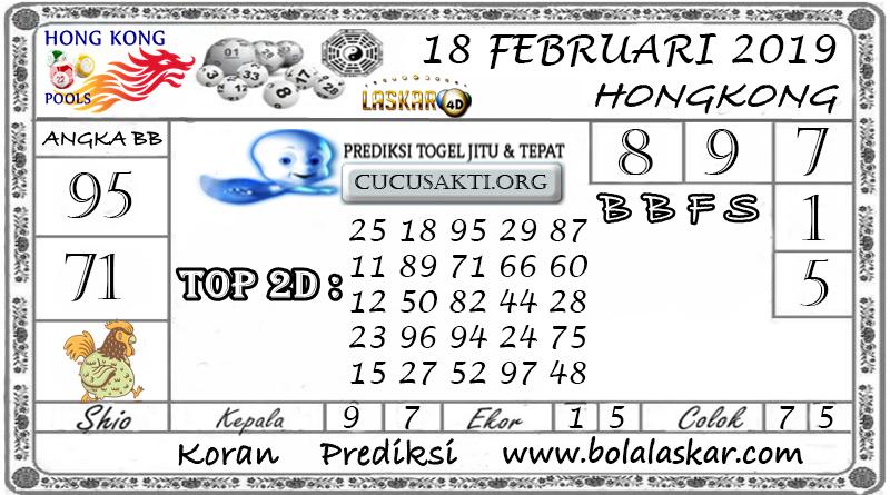 Prediksi Togel HONGKONG LASKAR4D 18 FEBRUARI 2019