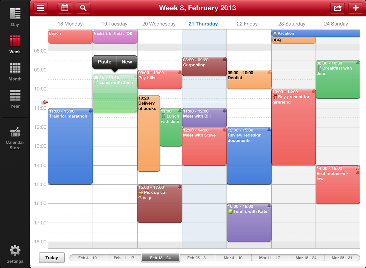 How Do I Create A Google Calendar View Google Calendar Gadgetero Week Calendar Hd For Ipad Review