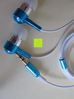 Hörer: Incutex In-Ear-Kopfhörer (3,5 mm Klinkenstecker) Ohrhörer Kopfhörersystem in verschiedenen Farben in weiß-blau